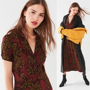 UO Charlotte Button-Down Midi Shirt Dress
